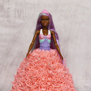 Barbie Star Pink Dress Doll Cake