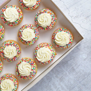 Fairy Bread Cupcake | January Flavour of Month