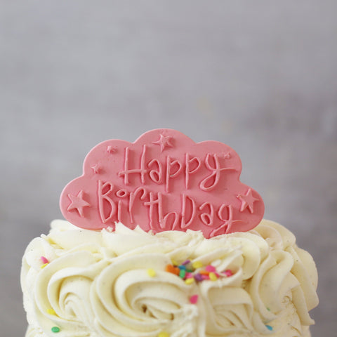 Pale Pink Happy Birthday Cake Plaque Gift Accessories