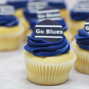 Go Blues - Football Cupcakes