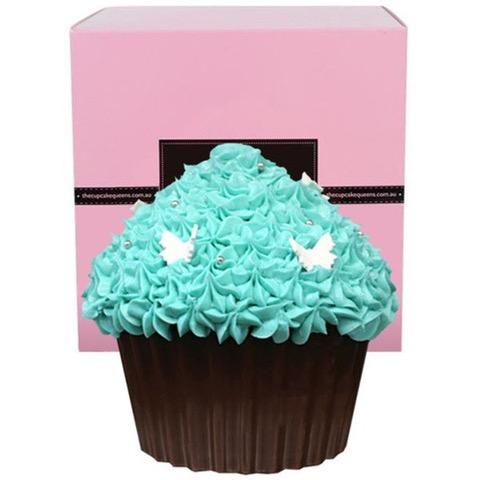 Tiffany Blue Chocolate Giant Cupcake with Butterflies