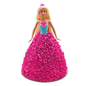Barbie Party Pink Dress Doll Cake