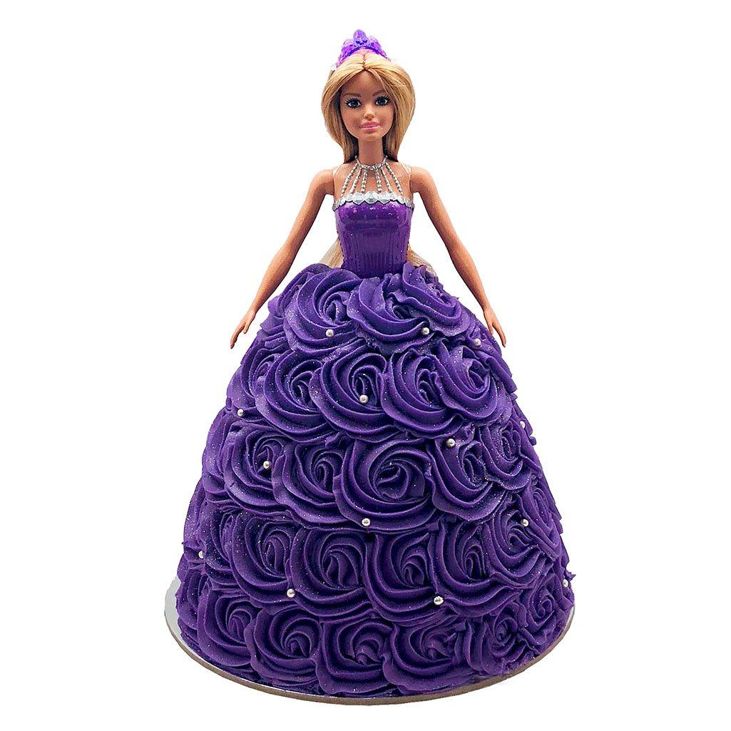 Barbie Purple Dream Dress Doll Cake
