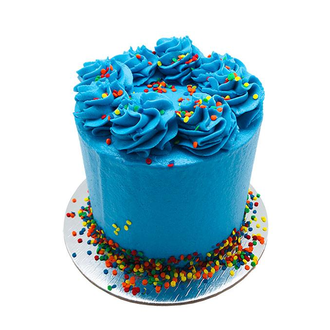 Brilliant Blue Cake - 5 Inch