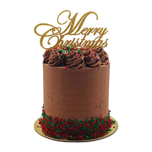 Christmas Vegan Friendly Chocolate Cake 5 Inch Special Occasion The Cupcake Queens