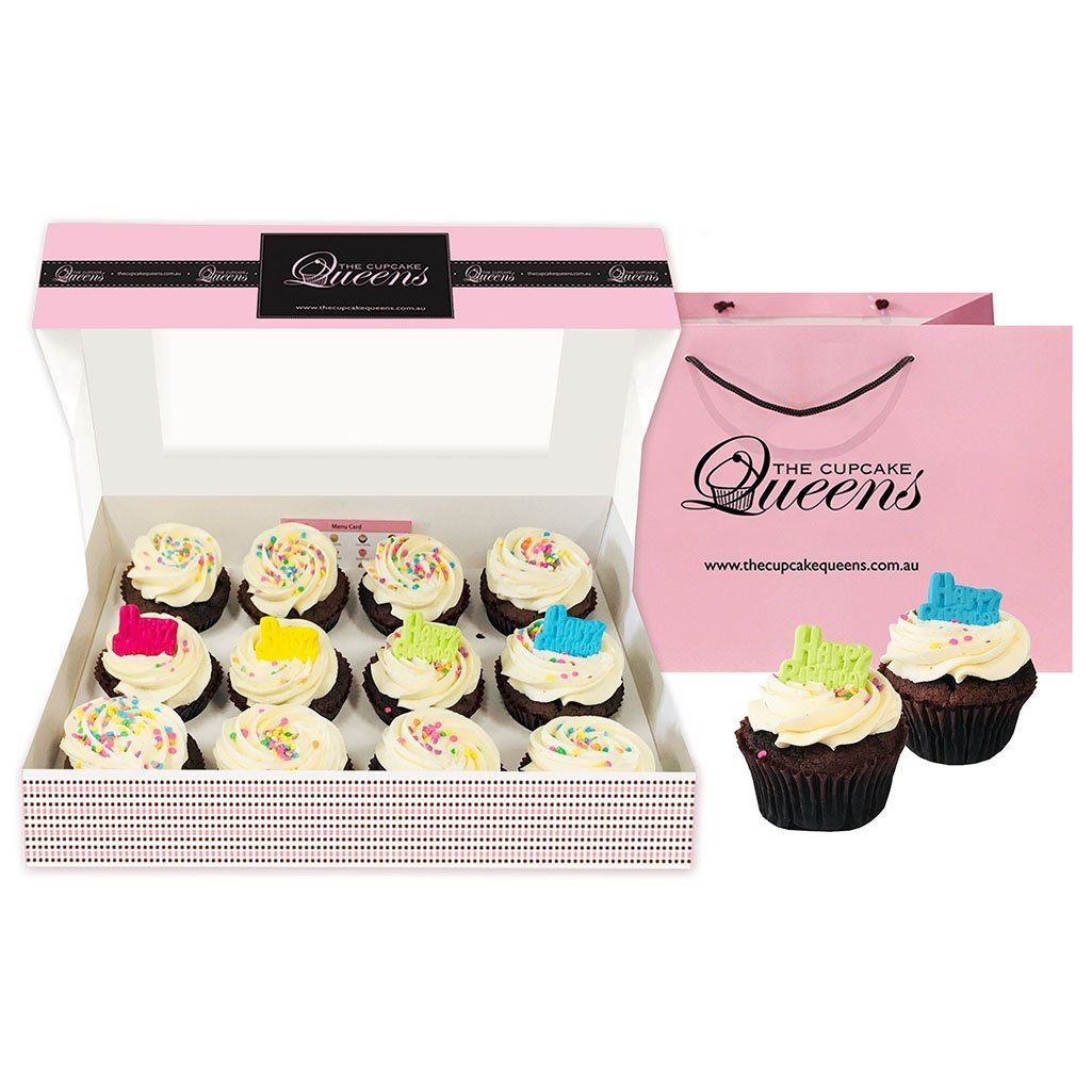 Gluten Friendly Birthday Gift Box (GF) Cupcakes The Cupcake Queens