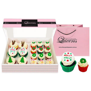 Christmas Regular and Mini Size Mix Box Special Occasion The Cupcake Queens