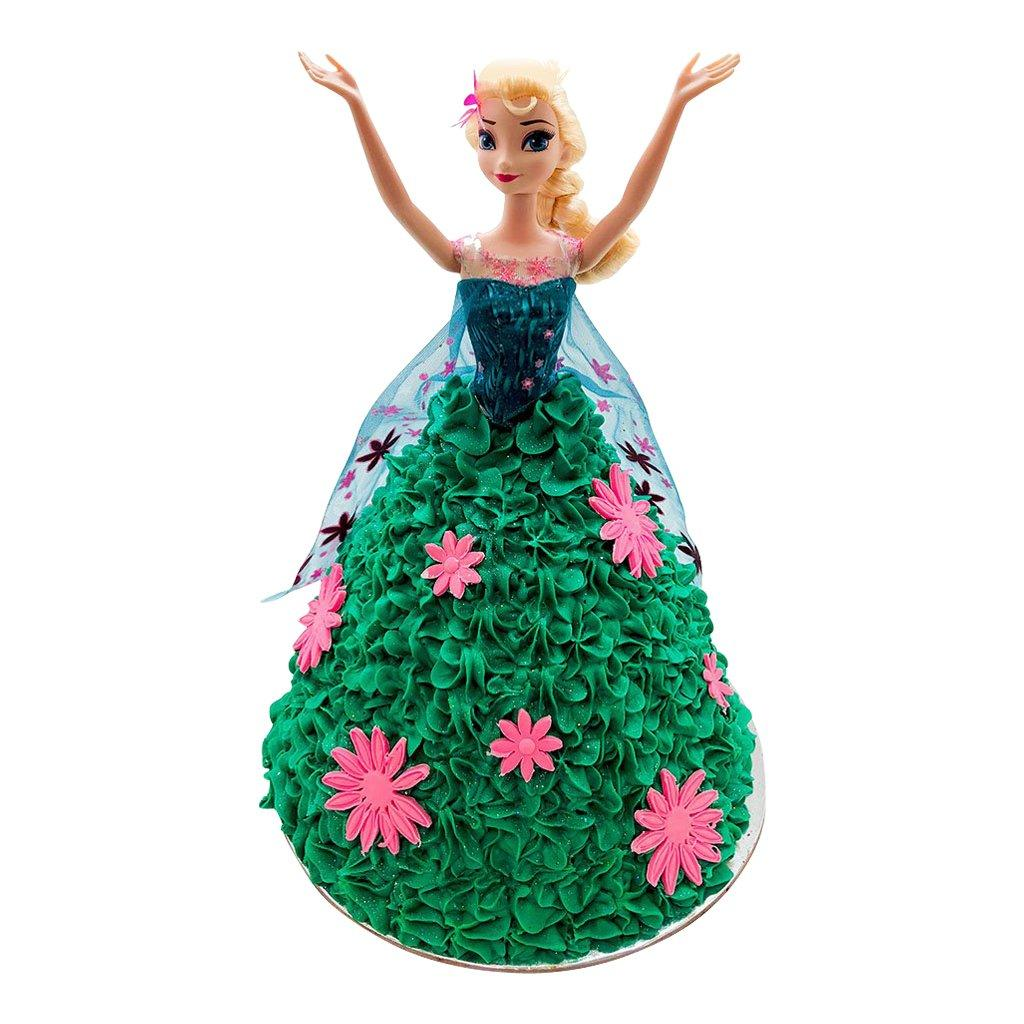 Elsa Frozen Fever Doll Cake