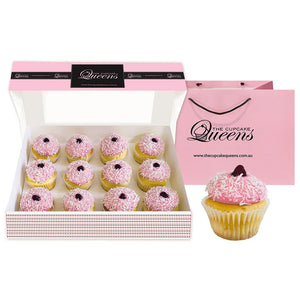 Raspberry Lamington | February Flavour of the Month Cupcakes The Cupcake Queens