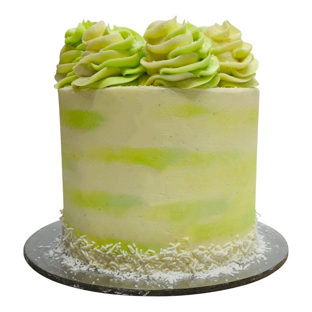 Coconut Lime Paint Cake
