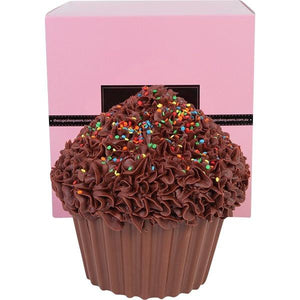 Dark Chocolate Giant Cupcake with Sprinkles