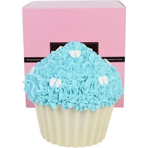 Blue Vanilla Giant Cupcake with Baby Feet Special Occasion The Cupcake Queens