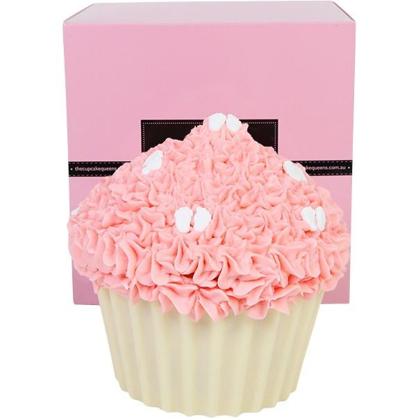 Pink Vanilla Giant Cupcake with Baby Feet