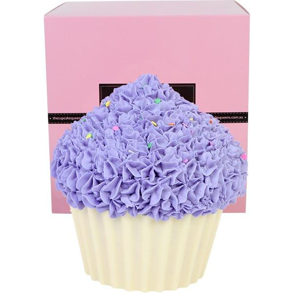 Purple Vanilla Giant Cupcake with Sprinkles