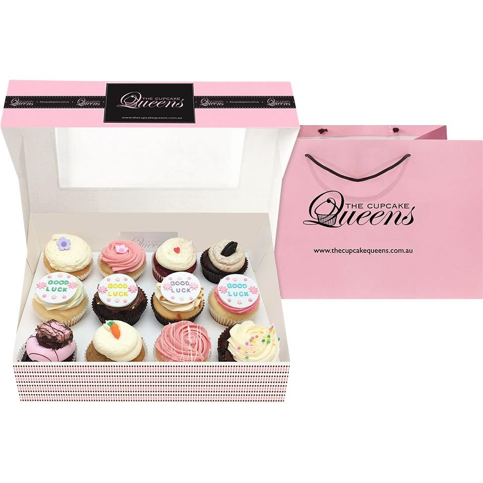 Good Luck Gift Box Cupcakes The Cupcake Queens