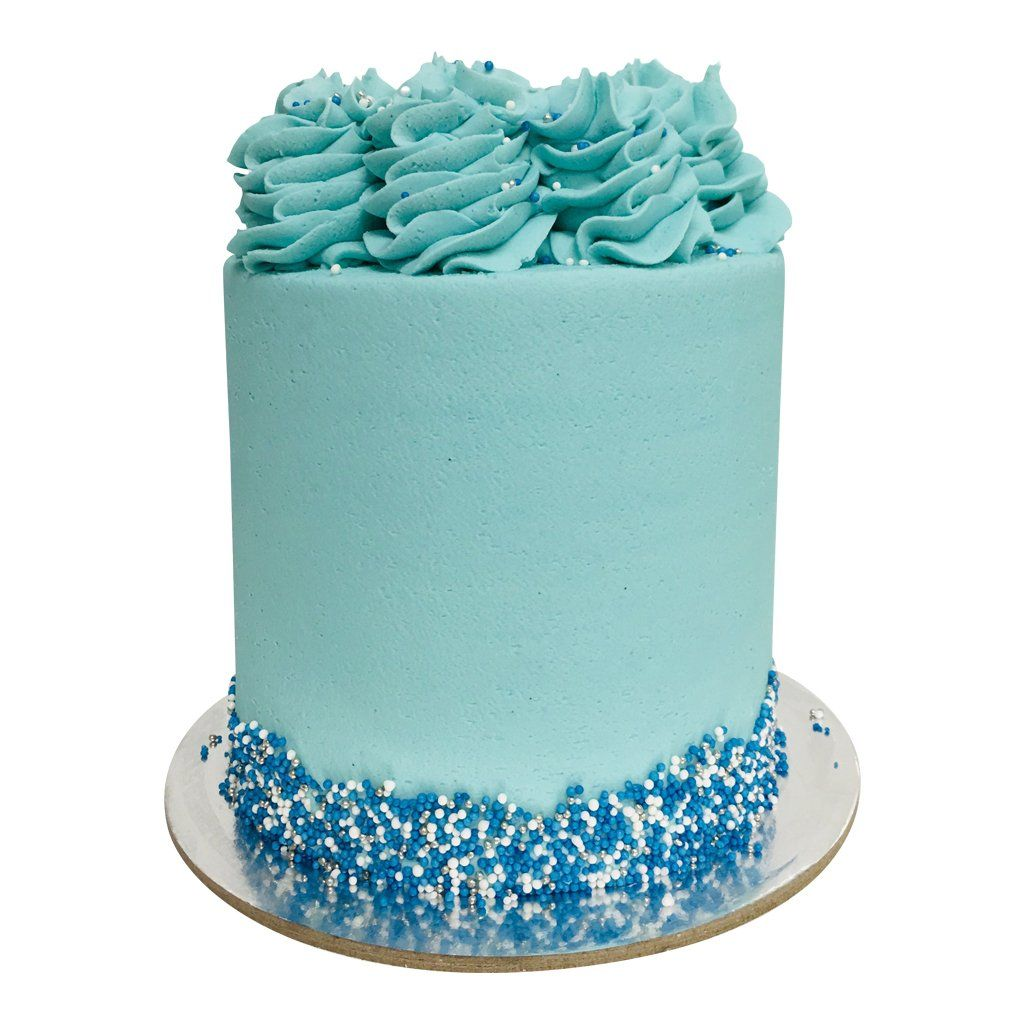 Surprising Pastel Blue Cake The Cupcake Queens Personalised Birthday Cards Paralily Jamesorg