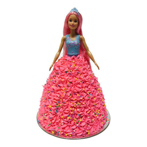 Confetti Barbie Doll Cake