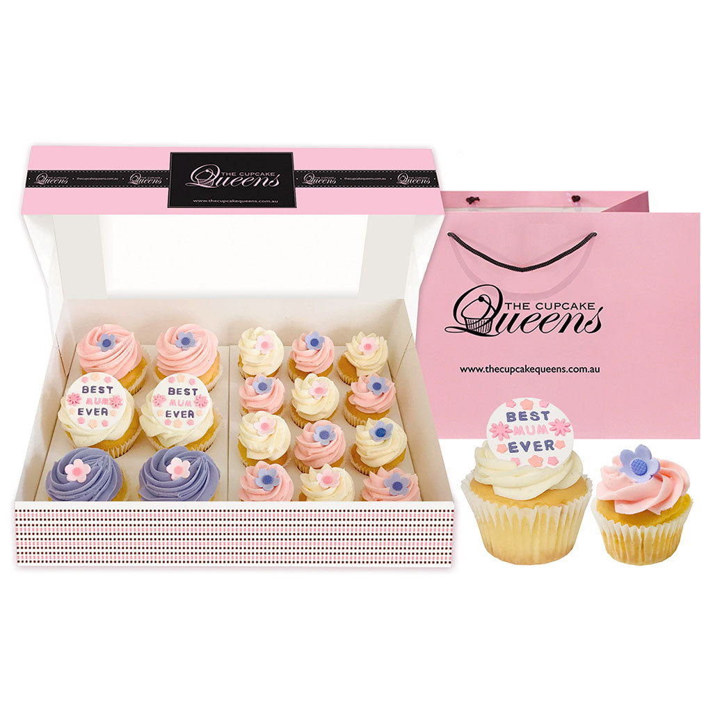 Love you MUM Regular and Mini Size Mix Giftbox Special Occasion The Cupcake Queens