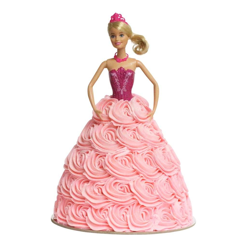 Ballerina Pink Swirl Barbie Doll Cake Special Occasion The Cupcake Queens