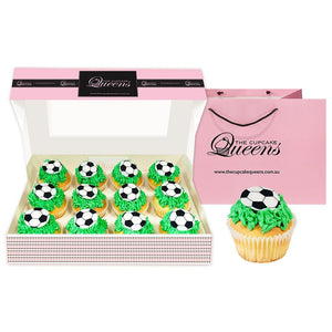 Soccer Goals Gift Box Cupcakes The Cupcake Queens