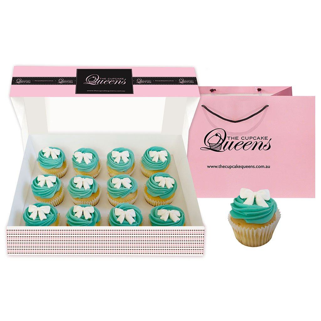 Tiffany Bow Cupcakes