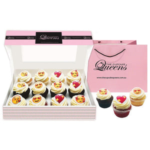 A little Heart Emoji Gift Box Special Occasion The Cupcake Queens