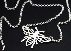 Manchester Worker Bee necklace
