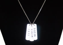 Load image into Gallery viewer, Mens Dog Tag Necklace with Dates