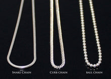 Load image into Gallery viewer, Curb Chain Ball Chain Snake Chain