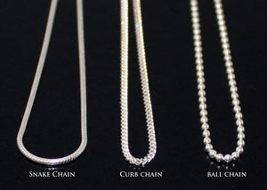 Curb Chain Ball Chain Snake Chain