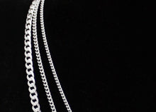 Load image into Gallery viewer, Wide Curb Chain Sterling Silver Necklace
