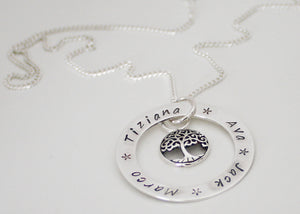 Personalized Necklace with Tree of Life Charm
