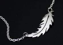 Load image into Gallery viewer, Feather Necklace in Sterling Silver