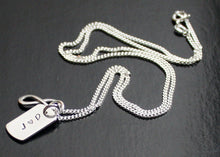 Load image into Gallery viewer, Mens Dog Tag Necklace with Infinity Symbol