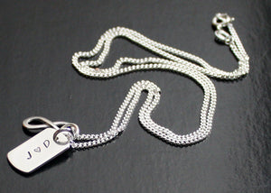 Mens Dog Tag Necklace with Infinity Symbol
