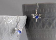 Load image into Gallery viewer, Dragonfly Earrings in Sterling Silver