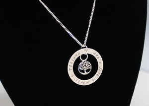 Tree of Life Necklace Pesonalized Solid Silver