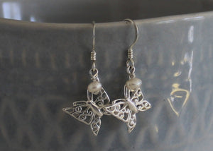 Butterfly Earrings in Sterling Silver