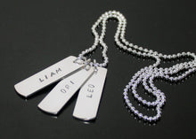 Load image into Gallery viewer, Dog Tag Necklace Sterling Silver