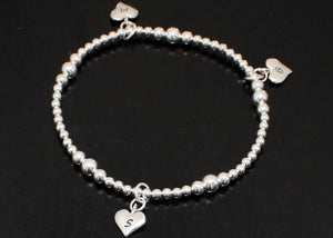 Personalized Heart Bracelet with Initials