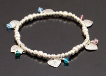 Load image into Gallery viewer, Initials and Hearts Bracelet