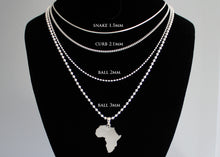 Load image into Gallery viewer, Solid Silver Africa Pendant