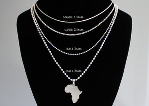Solid Silver Africa Pendant