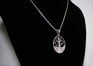 Large Tree of Life Necklace in Sterling Silver
