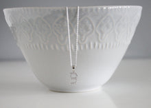 Load image into Gallery viewer, Sterling Silver Initial Necklace with Cubic Zirconia
