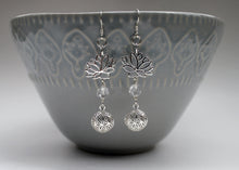 Load image into Gallery viewer, Lotus Flower Earrings in Sterling Silver