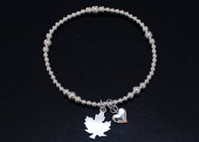 Load image into Gallery viewer, Maple Leaf Bracelet in Sterling Silver