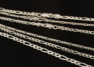 Figaro Chain Necklace in Sterling Silver