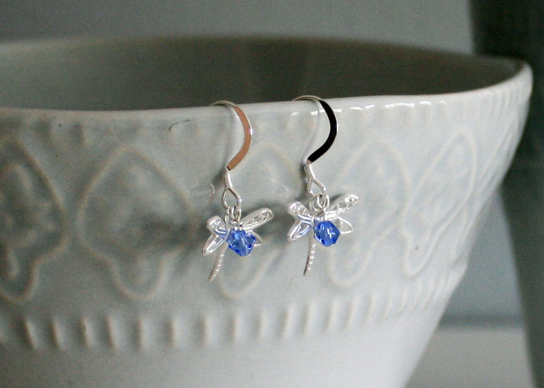 Dragonfly Earrings in Sterling Silver