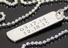 Load image into Gallery viewer, Personalized Dog Tag Necklace in Sterling Silver